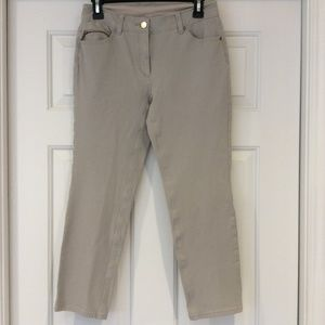 Chico's So Slimming Stretch Ankle Pants Beige XS